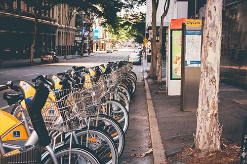 Bikes in Brisbane.