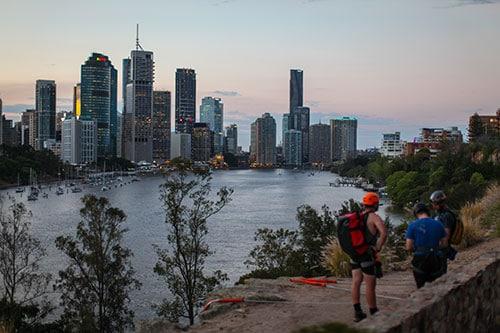 View of Brisbane.