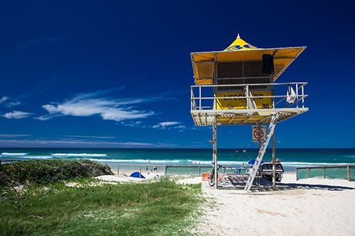 Life Guard Tower Gold Coast.